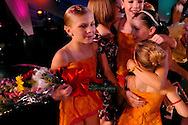 Whitney Schmanski from the Dance Club of Orem, Utah celebrates winning the New York Dance Alliance's National Mini Critics' Choice award at the New York Dance Alliance's national competition finale July 10, 2005 in New York City. <br />