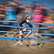 SHOT 1/12/14 2:46:31 PM - Judy Freeman (#37) of Littleton Co. competes in the Women's Elite race at the 2014 USA Cycling Cyclo-Cross National Championships at Valmont Bike Park in Boulder, Co.  (Photo by Marc Piscotty / © 2014)