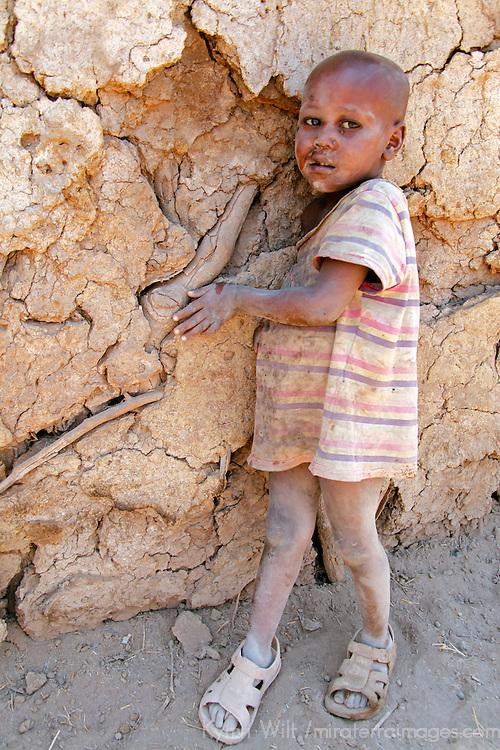 Africa, Kenya, Amboseli. Young Maasai boy.
