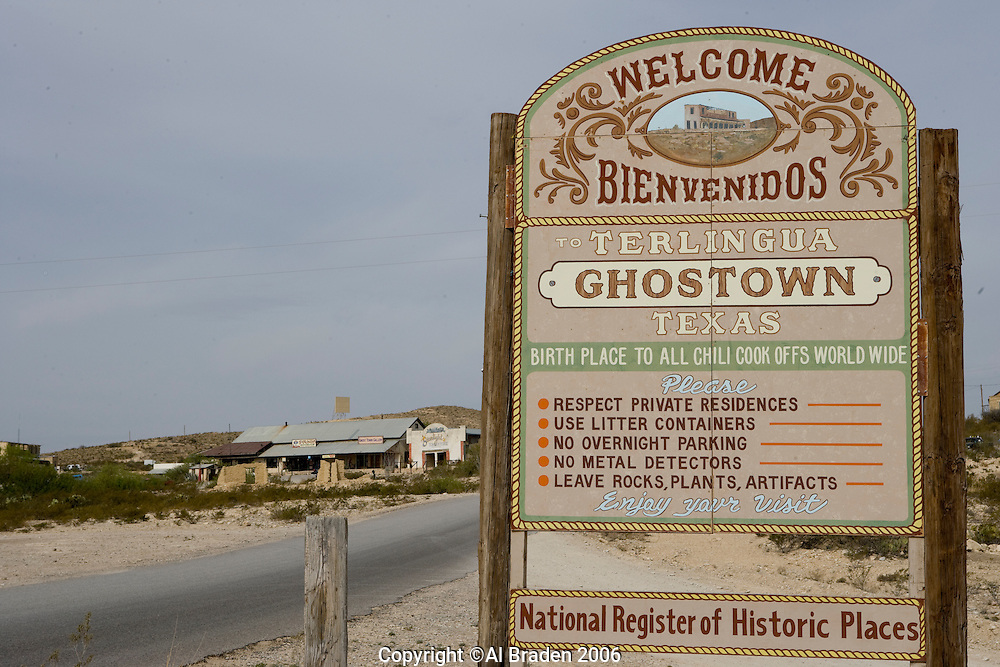 Signs at Terlingua Ghost Town, Terlingua, Texas