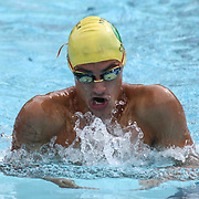 Swimmer Connor Sweeney (16) competes in the 100 meter individual medley during the Summer Swim league championships finials Saturday, July. 17, 2015 at Western YMCA in Wilmington, DEL