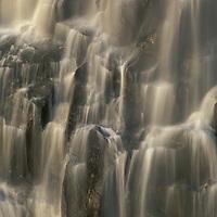 Africa, Zambia, Mosi-Oa-Tunya National Park,  Blurred water of Eastern Cataract of Victoria Falls at end of dry season
