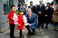King Willem-Alexander of The Netherlands visit the Hutong Dashilar area in Beijing, China, 26 October 2015. The King and Queen get an tour about the Beijing Design week in exposition area China's Turn. The King and Queen are in china for an 5 day state visit. COPYRIGHT ROBIN UTRECHT
