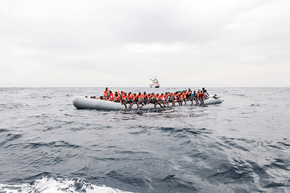November 2016. 146 people rescued by MOAS (the Migrant Offshore Aid Station) on 24 November 2016 in the Mediterranean Sea. They were disembarked in Pozzallo on the 27th November.