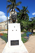 Maceo bust in a park in Bauta, Artemisa, Cuba.