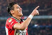EINDHOVEN - PSV - SC Genemuiden , Voetbal , KNVB Beker , Seizoen 2015/2016 , Philips stadion , 25-10-2015 , PSV speler Hector Moreno viert zijn doelpunt voor de 5-0