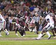 Ole Miss' Brandon Bolden (34) vs. Mississippi State in Starkville, Miss. on Saturday, November 26, 2011.