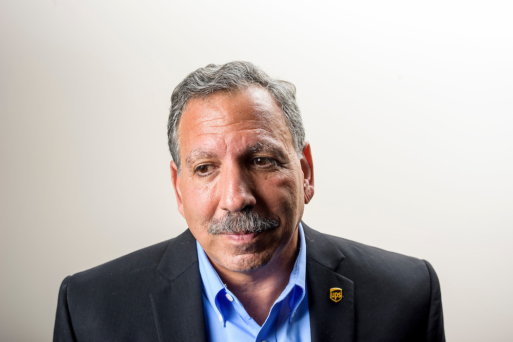 Timonium, Maryland - September 15, 2014: Jack Levis, the leader of UPS's ORION big data project sits for portraits at the UPS technology Center in Timonium, Md.<br /> The ORION project combines mapping algorithms with driver input to create the most optimal delivery routes. <br /> <br /> CREDIT: Matt Roth for The Wall Street Journal<br /> Assignment ID: 34383 <br /> Slug: UPS