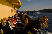 Sydney Sites travel series. On board the Sydney Manly Ferry.