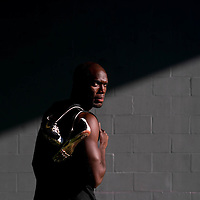 6/12/12 6:27:19 PM -- Bradenton, FL. -- Olympian LaShawn Merritt, who competes in the 400 meters, poses for a portrait at the IMG Performance Institute in Bradenton, Florida. ...Photo by Chip J Litherland, Freelance.