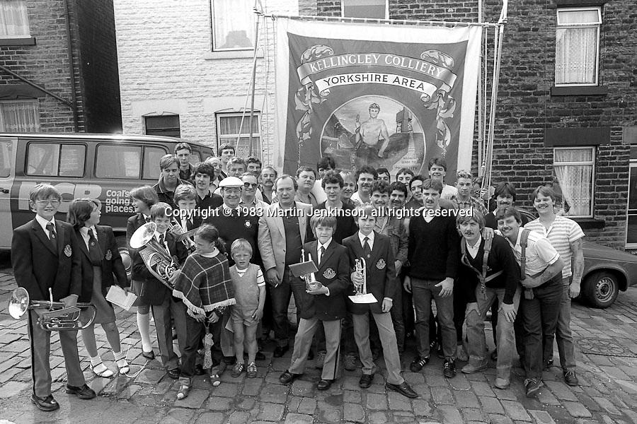 Kellingley Colliery Banner, 1983 Yorkshire Miner's Gala. Barnsley