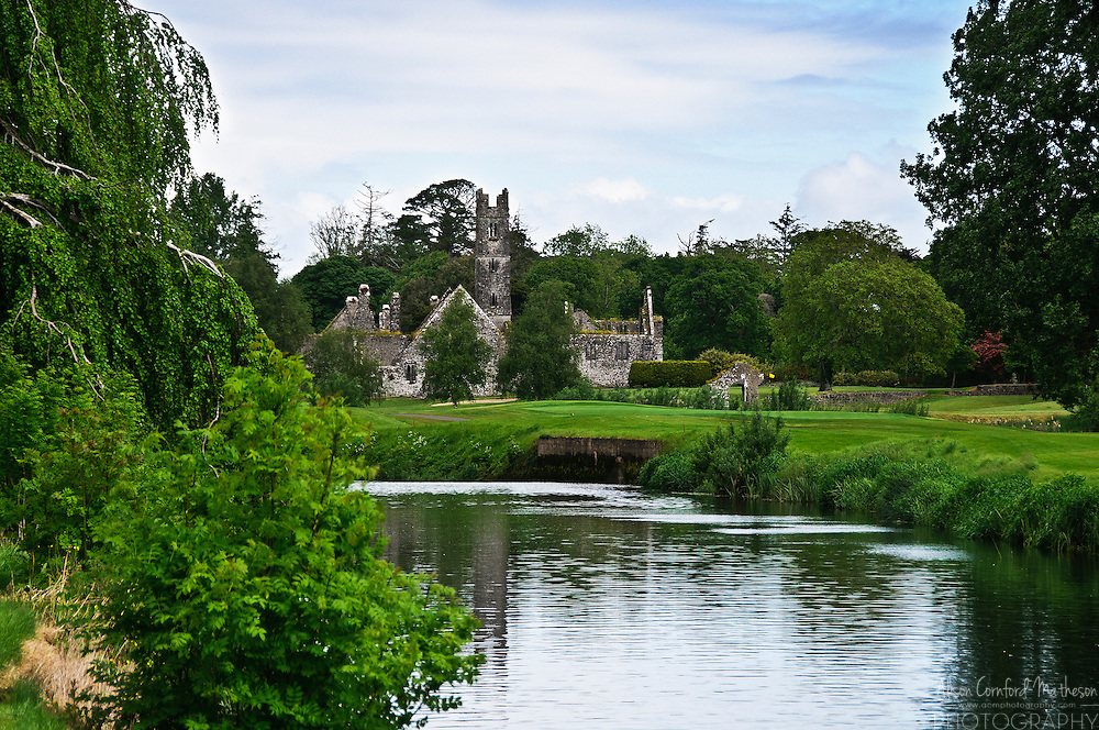 The ruins of a Franciscan Friary on the banks of the river Maigue near the Adare Manor Golf course.