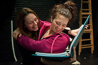 BU students rehearse for the production of 'Sickle' by playwright Abbey Fenbert at the Boston Playwrights' Theatre.