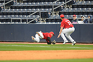 Louisville second baseman Ryan Wright makes a diving catch vs. Mississippi at Oxford-University Stadium in Oxford, Miss. on Saturday, March 13, 2010.  Ole Miss won 8-3.