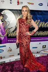 LOS ANGELES, CA - SEPTEMBER 2 American actress and former World's Perfect Miss Caitlin Patricia Weiler attends the red carpet of Latina International Beauty Convention at The LA Hotel l in downtown Los Angeles on Friday night 2016 September. Byline, credit, TV usage, web usage or linkback must read SILVEXPHOTO.COM. Failure to byline correctly will incur double the agreed fee. Tel: +1 714 504 6870.