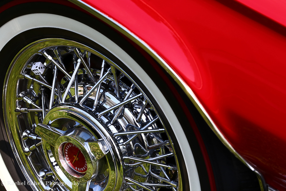 &quot;Roll the Dice&quot;<br /> <br /> Take a spin in this cool detailed image from a red 1965 Thunderbird!!<br /> <br /> Cars and their Details by Rachel Cohen
