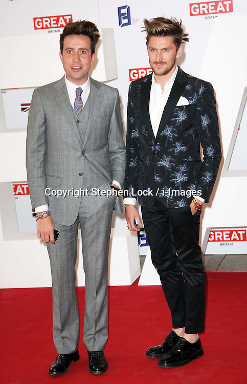 Henry Holland and Nick Grimshaw.at the UK's Creative Industries Reception held at the Royal Academy of Arts in London, Monday, 30th July 2012.  Photo by: Stephen Lock / i-Images