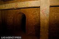 Plusieurs oeuvres ont été gravés sur les murs. Le katakombe était le nom d'un cabaret en souvenir du même lieu à Berlin.