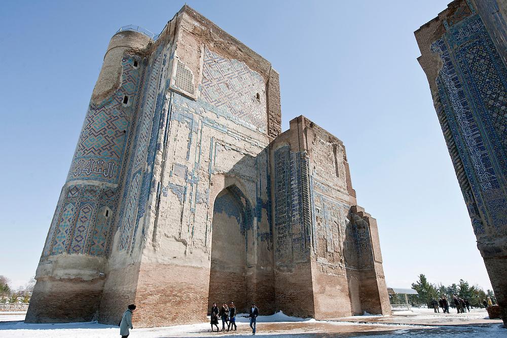 Shakhrisabz, Uzbekistan 20 March 2012<br /> Timur's Ak-Saray palace main entrance.<br /> PHOTO: EZEQUIEL SCAGNETTI