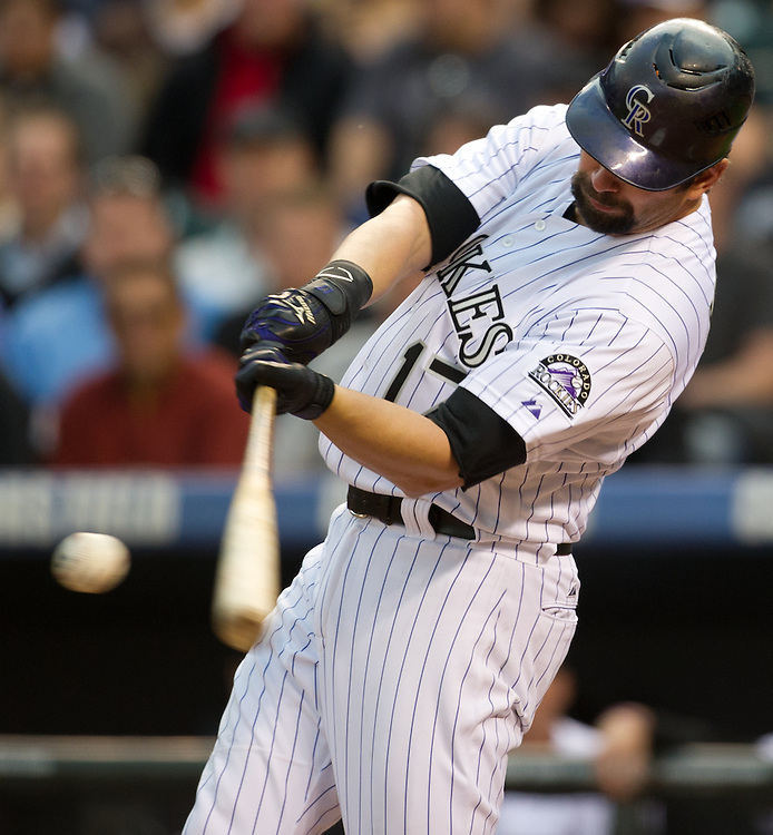 Todd Helton connected for a single in the fourth