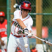 8/16/10 Aberdeen, MD: Mexico's DANIEL FAVELA beats CANADA with his bat going 3 for 3 at Cal Ripken world series. Special To Monsterphoto/SAQUAN STIMPSON