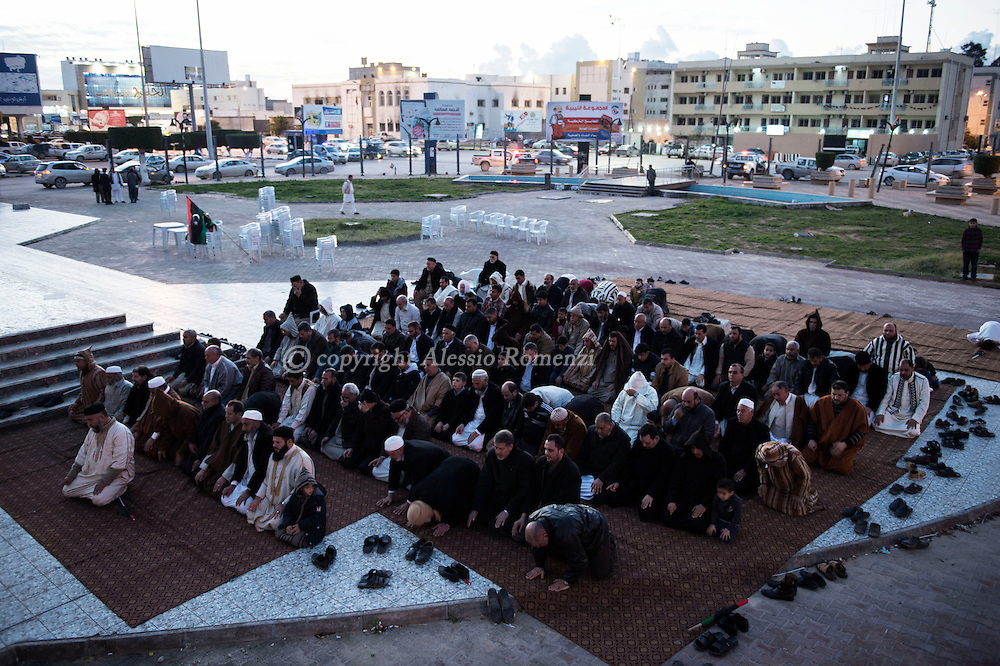 Libya, Misurata: Friday payer after a demonstration against the unity government in central Misurata. Alessio Romenzi