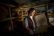 COGDELL, GA - DEC., 8, 2016: Dotty Porter looks at a 1932 ledger in the vault at the Sessoms Timber Trust headquarters , Thursday, December 8, 2016, in Cogdell, Ga.  (Photo by Stephen B. Morton for Georgia Forestry Magazine)