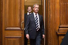 AUG 28 2014 UKIP LEADER NIGEL FARAGE MAKEs AN ANNOUNCEMENT