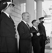 1961 - New U.S. Ambassador Edward Grant Stockdale presents his credentials at Aras an Uachtarain