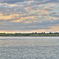 The River Stour in Essex as the sun sets
