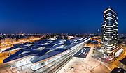 Main Station and &Ouml;BB Headquarters <br /> Main Station Architecture: Albert Wimmer, Ernst Hoffmann, Theo Hotz Partner<br /> &Ouml;BB Headquarters Architecture: Zechner &amp; Zechner