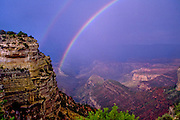 Double rainbows over the Grand Canyon, South Rim, Arizona