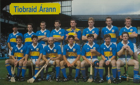 All Ireland Senior Hurling Championship Final,.03.09.1989, 09.03.1989, 3rd September 1989, .Antrim v Tipperary, .03091989AISHCF,.Tipperary 4-24, Antrim 3-9,..Tipperary, back row, Joe Hayes, John Heffernan, Noel Sheehy, Conor O'Donovan, Ken Hogan, Declan Ryan, Declan Carr, Bobby Ryan,front row, Nickey English, MIchael Cleary, Cormac Bonnar, Conal Bonnar, Pat Fox, John Leahy, Pat Delaney, ..Kebabylon,