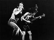AC/DC 1976 Bon Scott and Angus Young.© Chris Walter.