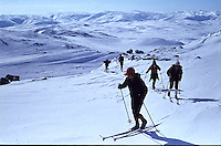 Skiing in the mountains of Bykle 1972