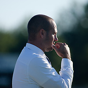 Goldey-Beacom Manager Ryan Dixon during a NCAA regular season match against Wilmington University Wednesday, Sept. 12, 2012. at Kirkwood Soccer Complex...Special to Monsterphoto/SAQUAN STIMPSON