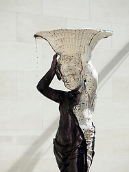 Sculpture fountain with black ink by Su-Mei-Tse called Many Spoken Words at  Modern Art Museum MUDAM Musee d'Art Moderne Grand Duc Jean  Luxembourg