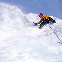 Dale Remsberg leads AI4 in Spindrift Couloir, Big Four Mountain, WA.