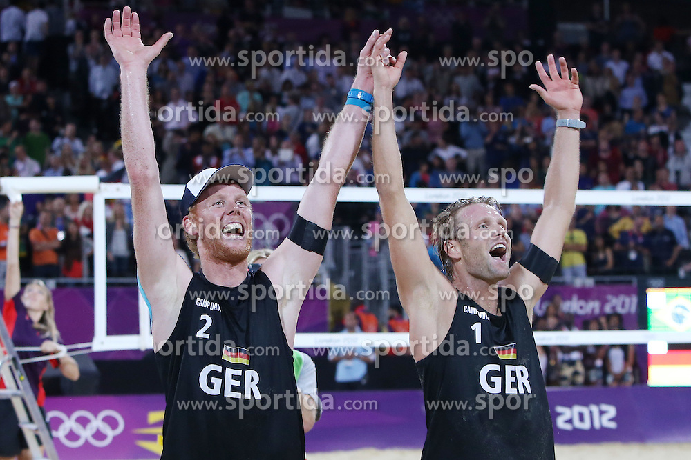 Olympic Games London 2012, Beachvolleyball Men, Final.Julius Brink / jonas Reckermann. © pixathlon
