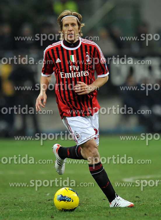 29.01.2012, Stadion Giuseppe Meazza, Mailand, ITA, Serie A, AC Mailand vs Cagliari Calcio, 20. Spieltag, im Bild Massimo AMBROSINI (Milan), // during the football match of Italian 'Serie A' league, 20th round, between AC Mailand and Cagliari Calcio at Stadium Giuseppe Meazza, Milan, Italy on 2012/01/29. EXPA Pictures © 2012, PhotoCredit: EXPA/ Insidefoto/ Alessandro Sabattini..***** ATTENTION - for AUT, SLO, CRO, SRB, SUI and SWE only *****