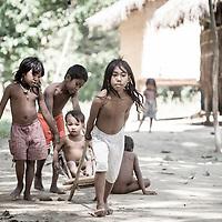Batak children play in northeast Palawan, Philippines