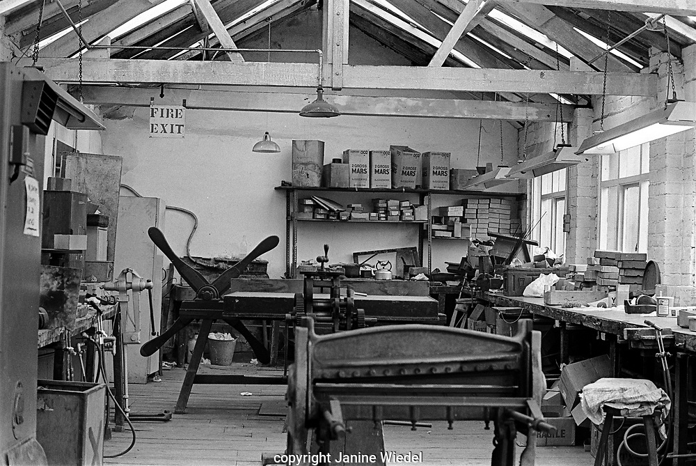 Turner and Simpson silversmiths and enamellers in Birmingham's Jewellery Quarter in the 1970s