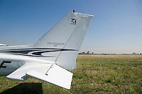 Tail detail of a Cessna 172 skyhawk