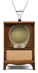 1952 console television set