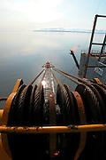 Alaska, Cook Inlet. Oil and Gas production platform.