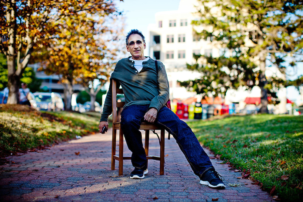 "Arlington, Va., Sept. 22, 2010 - ""Chair"" series - Chuck rendelman, owner of FroZenYo, Washington, DC  (Photo by Jay Westcott/TBD)"