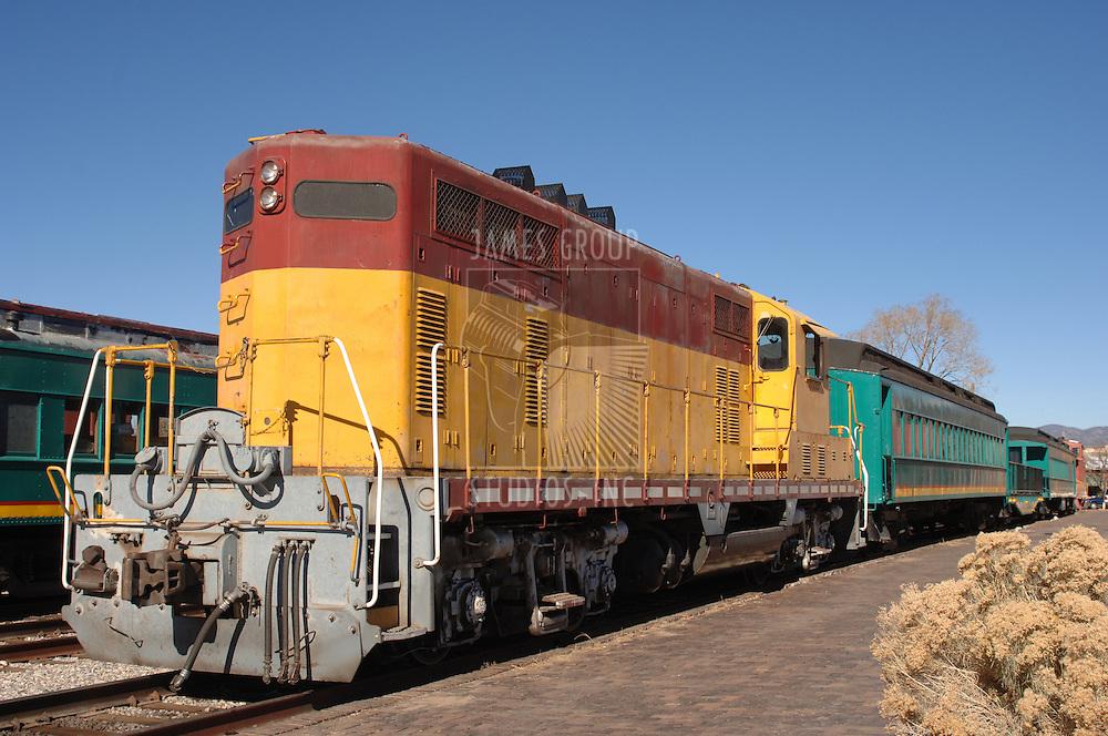 1950's style diesel train locomotive