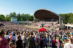 Song Festival 2014 in Tartu, Estonia. Concert arena with large arch.