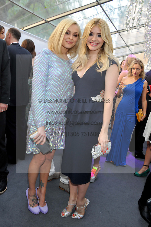 Left to right, FEARNE COTTON and HOLLY WILLOUGHBY at the Glamour Women of the Year Awards 2012 in association with Pandora held in Berkeley Square Gardens, London W1 on 29th May 2012.