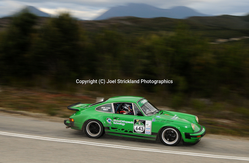 #643 - John Ireland & Michael Ribot - 1977 Porsche 911 Carrera 3.Day 4.Targa Tasmania 2010.1st of May 2010.(C) Joel Strickland Photographics.Use information: This image is intended for Editorial use only (e.g. news or commentary, print or electronic). Any commercial or promotional use requires additional clearance.